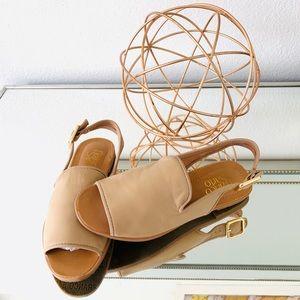 Franco Sarto Peep Toe Sandals